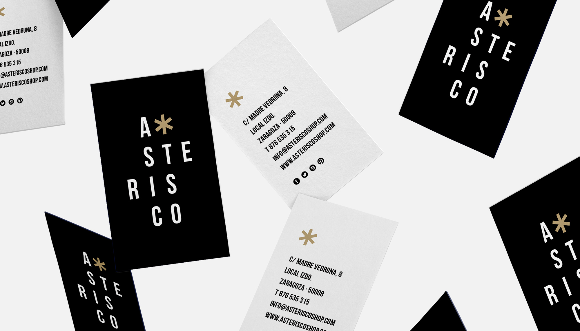 Identidad Corporativa Asterisco Shop