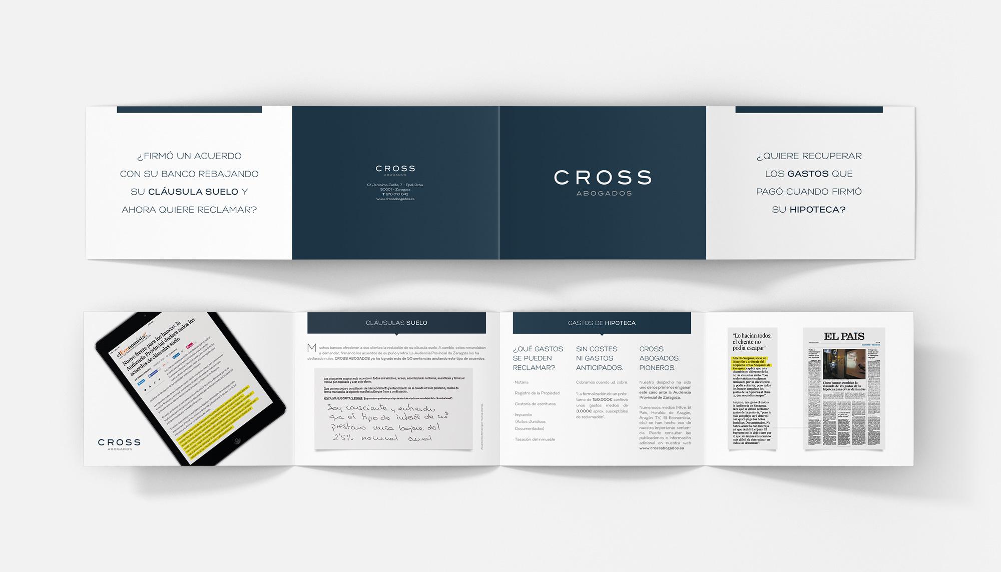 Folleto Cross Abogados Asesores