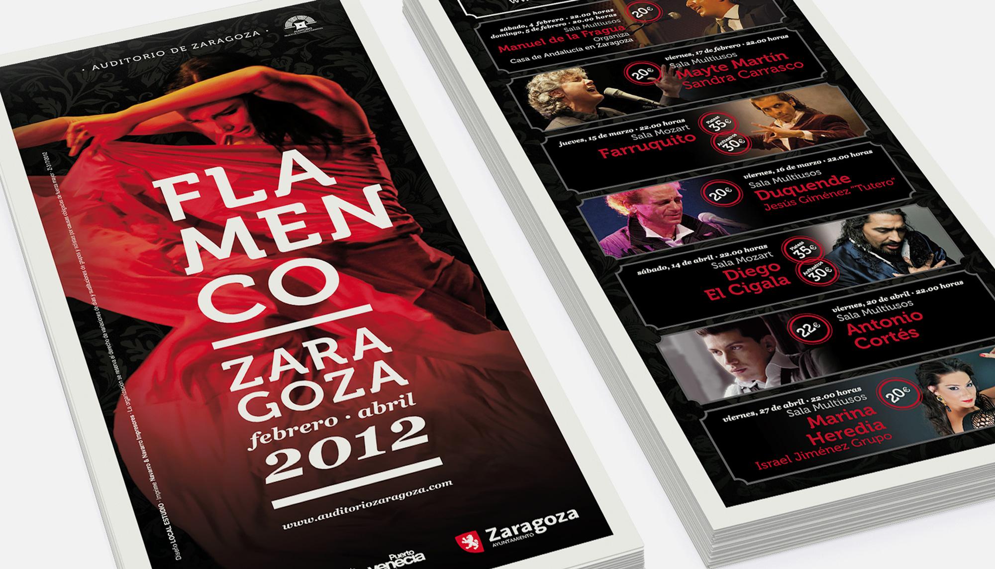 Folleto Flamenco Zaragoza 2012