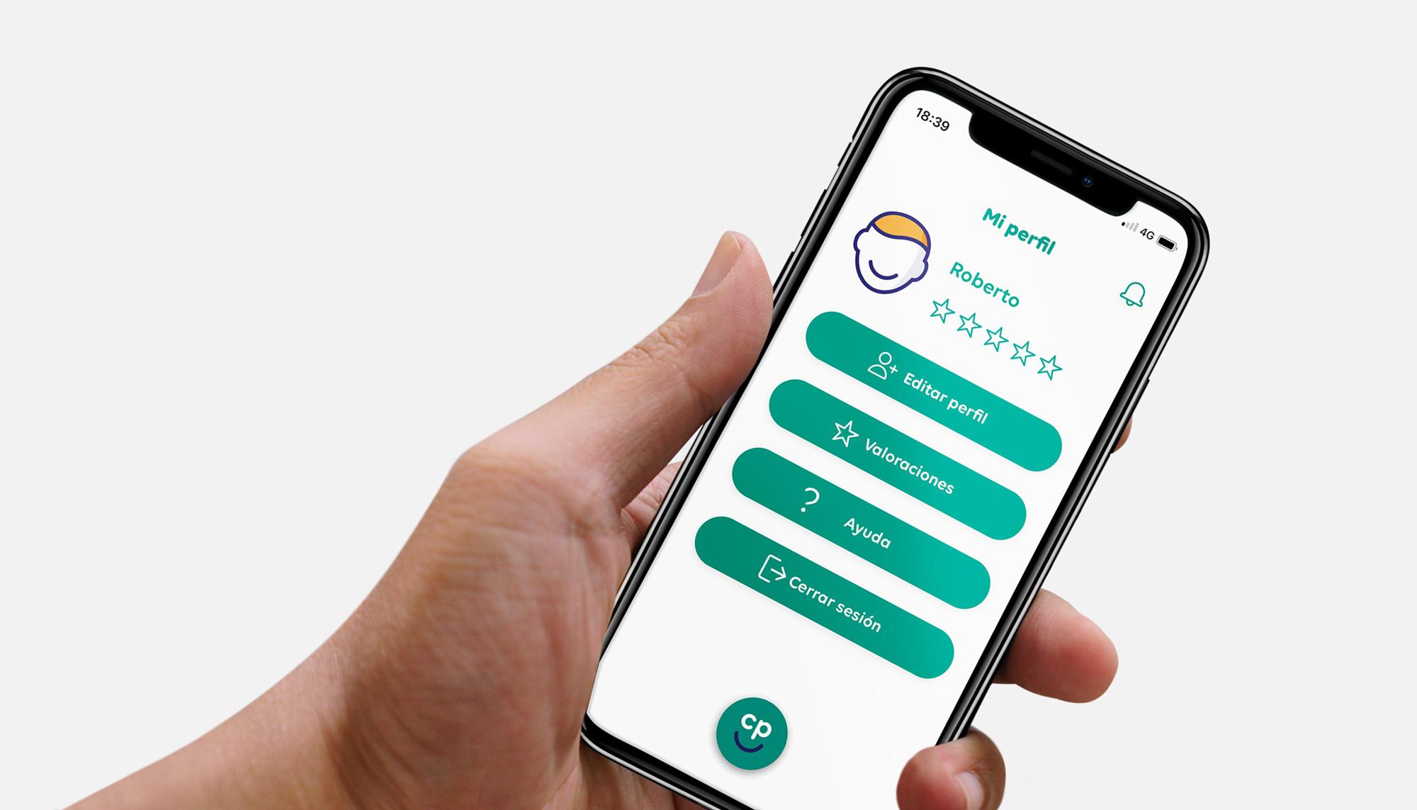 Interfaz Aplicación App Click and Plan