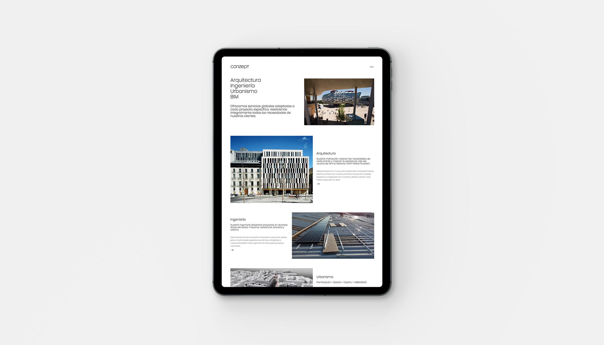 Web Conzept Arquitectura Ingeniería Urbanismo